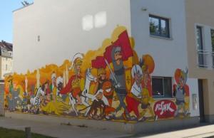 Digedag Graffiti Leipzig von Ilja van Treeck